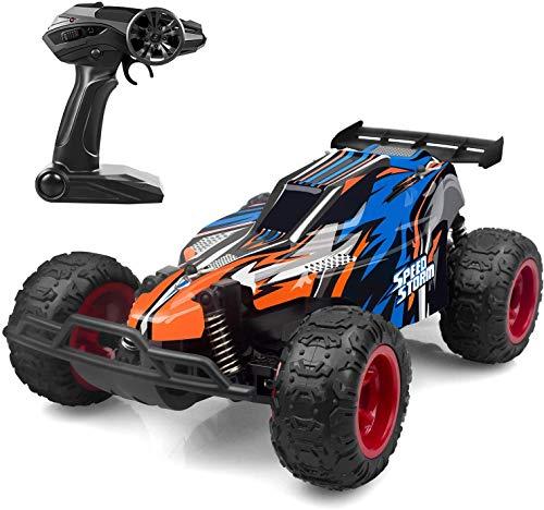 DDYX2020 1: 22- 2.4Ghz- Remote Control Race Car,  Coche teledirigido,  Coches teledirigidos para niños de Alta Velocidad,  (Azul)