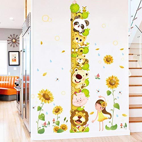 Pegatinas de altura Koala de dibujos animados pegatinas de altura personalizadas linda decoración de animales jardín de infantes habitación infantil autoadhesivas pegatinas de papel tapiz-Pega