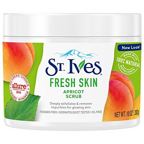 St. Ives Fresh Skin Face Scrub, Apricot, 10 oz