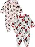 Disney Minnie Mouse Baby Girls Fleece 2 Pack Sleep N' Play Footies 3-6 Months