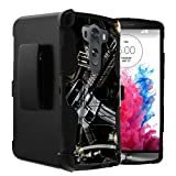 Untouchble Compatible with LG V10 Holster Case | V10 Case [Heavy Duty] Dual Layer Rugged Hybrid Cover [Kickstand] [Swivel Holster] - Tough Assault Rifle