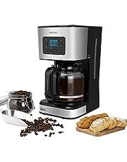 Cecotec Cafetera Goteo Coffee 66 Smart. Programable con Tecnología ExtemAroma, Función AutoClean