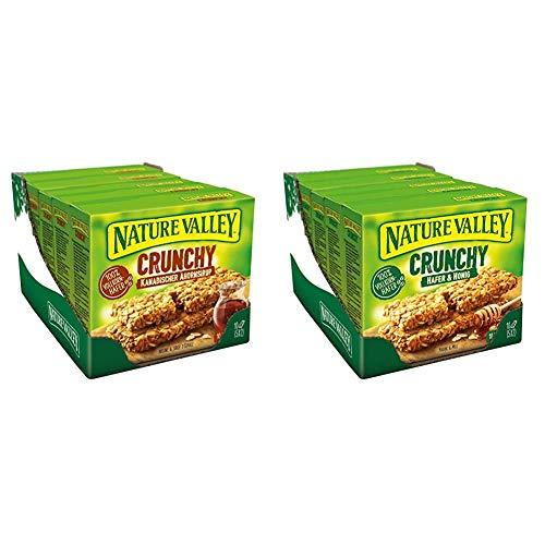 Nature Valley Crunchy Riegel Set – Kanadischer Ahornsirup + Hafer & Honig, je 1 x 5er Multipack mit 10 Crunchy Riegeln (2 x 5 x 210g)