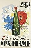 PostersAndCo Angers VINS France 1937 Rmlj-Poster/Reproduction 50x70cm (sur Papier 60x80cm) d1 Affiche Vintage/RéTRO