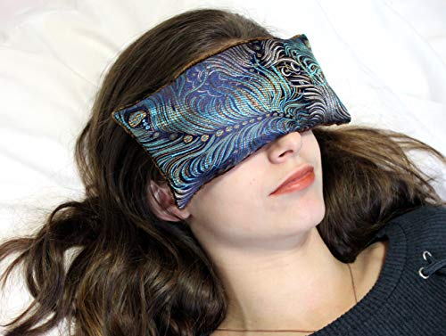 Candi Andi Handmade Eye Pillow - Flax Seed Fill - Unscented - Dark Turquoise - TEP-DT