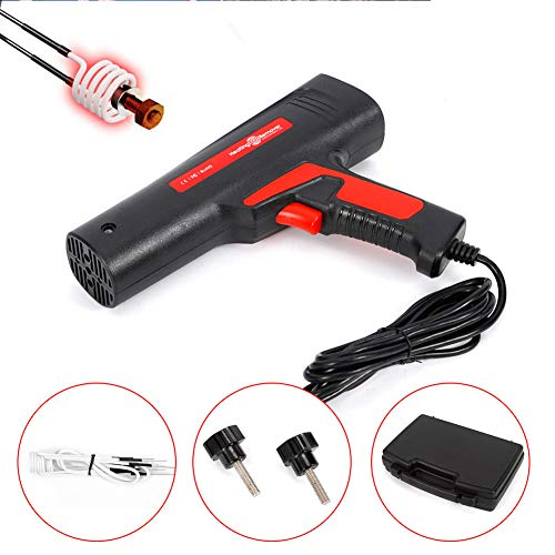 TBVECHI Induction Heating Bolt Remover Tool, 110V Induction Ductor Magnetic Heater Bolt Remover Removal Tool Flameless Heat for Quick Release Rusty Screw and Nut Machine Repair Tool