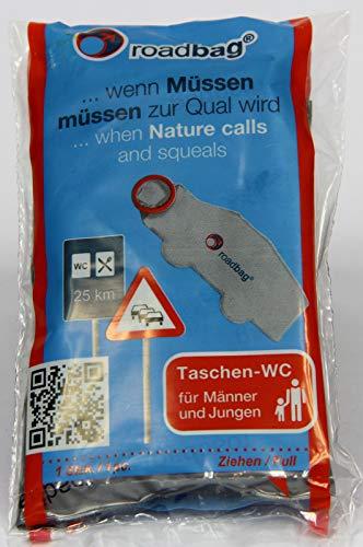 Pfiffig-Wohnen roadbag® - Das Mobile Einweg-WC für Männer 5er Set