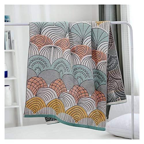 ZXF Baño de baño Baño Absorbente Towelsthick Puro algodón Suave patrón étnico Toalla Bathrobes (Color : 1pcs D, Size : 70x140cm)