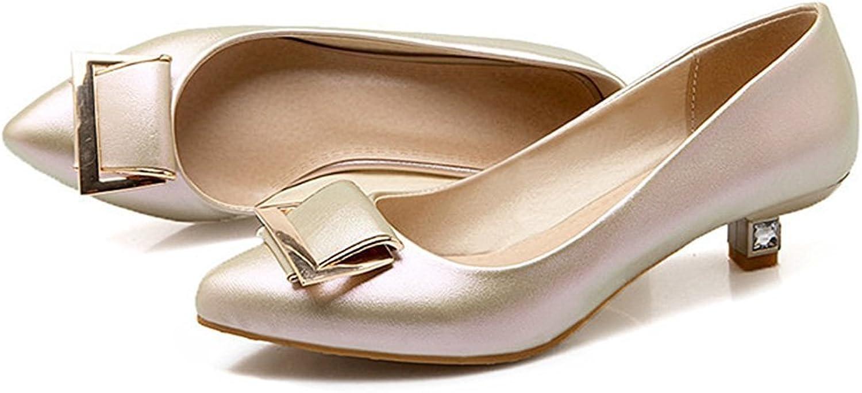 Colnsky Women's Sweet Metal Buckle Pointed Toe Low Cut Work shoes Low Heel Pumps