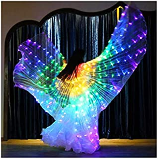 SLDHFE Ailes de danse du ventre, équipement de danse du robinet, déguisements lumineux avec ailes de papillon colorées pou...