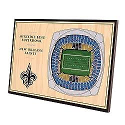 NFL New Orleans Saints Unisex New Orleans SaintsDesktop Stadium View, Wood Grain, Desktop