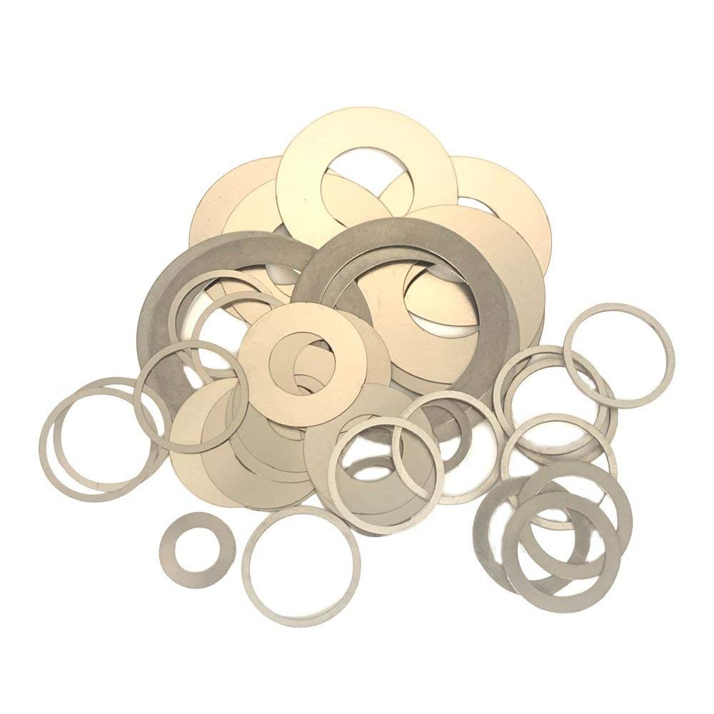 WKOOA Shim Washers Stainless Steel Ultrathin Gasket Thin Flat Washer Pack of 100-8x11x1