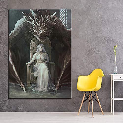 wZUN Pintura de la Lona decoración del hogar Arte de la Pared Imagen del Juego Sala de Estar Cartel de impresión HD 60x90cm Sin Marco