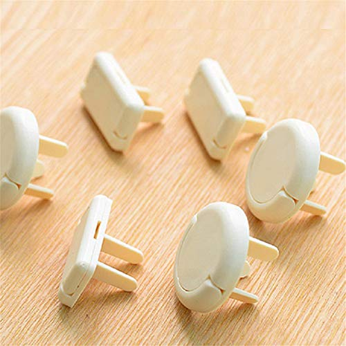 Plug and Socket Cover, Protection Cover Against Electric Shock Safety Socket, Protective Cover with Handle for Child Safety Power Supply, 20PCS (2 + 3 holes,white)