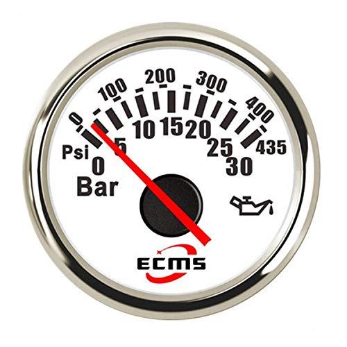 ZJN-JN 52 mm Manómetro de aceite 0-30bar 0-435Psi medidor de presión for el coche del carro del barco Automóviles partes interiores guarniciones Fascial