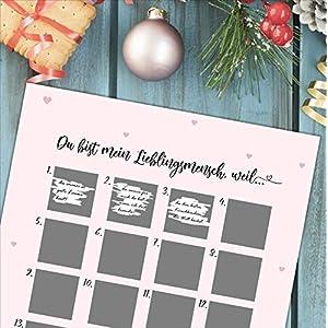 """Adventskalender zum Rubbeln""""LIEBLINGSMENSCH"""" A3 Weihnachtskalender"""