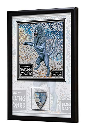 We Love Guitars Rolling Stones Bridges to Babylon EGA Gerahmtes Albumcover Gitarren-Pick-Display gerahmt