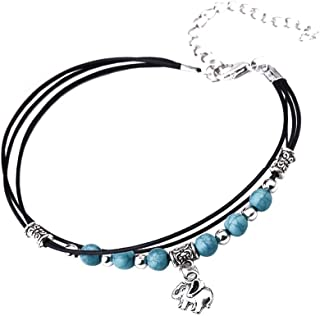 Women Summer Anklet Multi Layers Alloy Turquoise Anklet Fashion Jewelry Anklet Gift Women Girls Model Foot Chain Anklet Bracelet