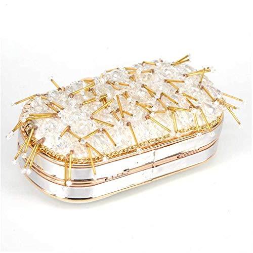 Kvällsväska dam clutchväska pärlor pärlor bröllop handväskor clutchväska för bröllopsdag clutches plånbok aftonväskor
