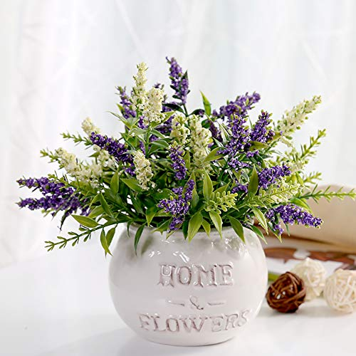 AMITD Artificial Flowers In Vase Indoors,Bathroom Decorative,Living Room Accessories,25Cm,Green