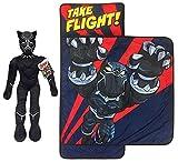 Jay Franco Marvel Super Hero Avengers Black Panther Nap Mat and Pillow Buddy Bundle