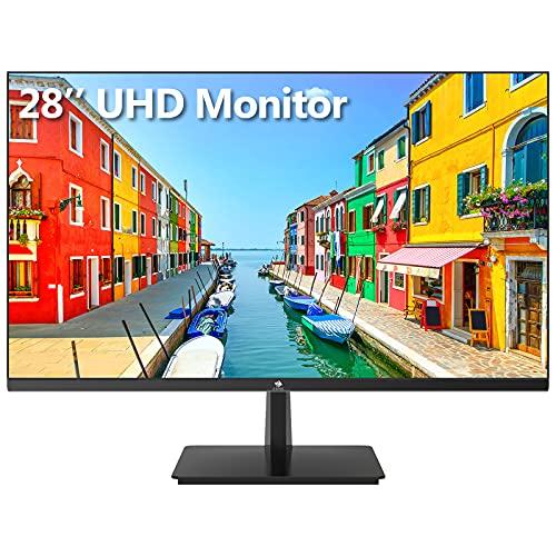 Z-Edge U28I4K 28-inch Gaming Monitor Ultra HD 4K 3840x2160 IPS LED Monitor, 300 cd m², 4 ms Response Time, HDMI+DP+Type-C+USB-B+USB2, Built-in Speakers, FreeSync Technology