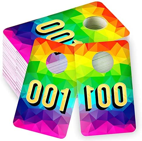 Whaline Live Number Tags 001 100 Number Series 2 x 3 Inch Large Tag Numbers Reusable Normal product image