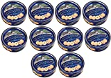Royal Dansk 81997 Danish Butter Cookies (Pack of 10), Blue Flat Display, Reusable Classic Tin Filled, Made of Real Butter, No Preservatives or Coloring Added, Net Weight 12 Ounce (340 gr)