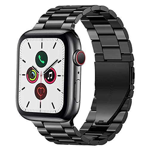 PUGO TOP Compatible with Apple Watch Band 38mm 40mm Series 5/4/3/2/1 iWatch iPhone Watch Link Band Stainless Steel Metal Men Women.(38mm/40mm, Space Gray)
