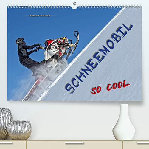Schneemobil - so cool (Premium, hochwertiger DIN A2 Wandkalender 2021, Kunstdruck in Hochglanz)