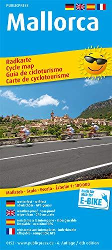 Mallorca: Radkarte mit Tourenvorschlägen, wetterfest, reissfest, abwischbar, GPS-genau. 1:100000