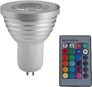 SGJFZD GU5.3 RGB LED Spotlight 3 W LED Lamp 85-265V Lamp High Power 16 Colors Changeable Home Decoration Infrared LED Ligh...