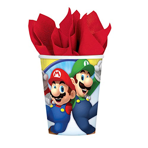 PARTY DISCOUNT NEU Becher Super Mario, 250 ml, 8 Stück