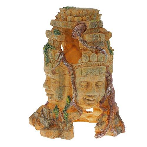 10 Varios Diseños de Formas Únicas Decoración fe Reptiles fe Resina para Lagarto Tortuga Serpiente Escondites Fondo de Terrario Hábitat - # 1
