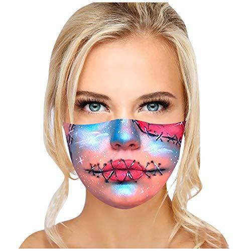 LEORTKS Neu Winddicht Gesichts Tuch Mundschutz Gesichts Wiederverwendbar Adult Outdoor Waschbarer Make-up Print Gesichtsschutz Atmungsaktive Staubdicht Mund und Halstuch für Damen Herren