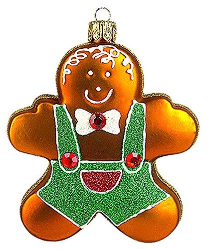 PPH 'IMP' Christbaumschmuck Figuren Essen Christbaumschmuck (Der Lebkuchenmann 7.5cm) Figuren Essen Christbaumkugeln Weihnachtskugeln Weihnachts-Baumschmuck Baumkugeln Deko
