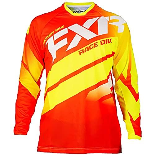 Camiseta MTV Barata, Maillot MTB Alpine,Camisetas de Ciclismo de Manga Larga MTB Boys Ropa de Bicicleta de montaña Camiseta de Motocross Downhil Mountain Bike Dh Shirt Fxr Dh Bike S