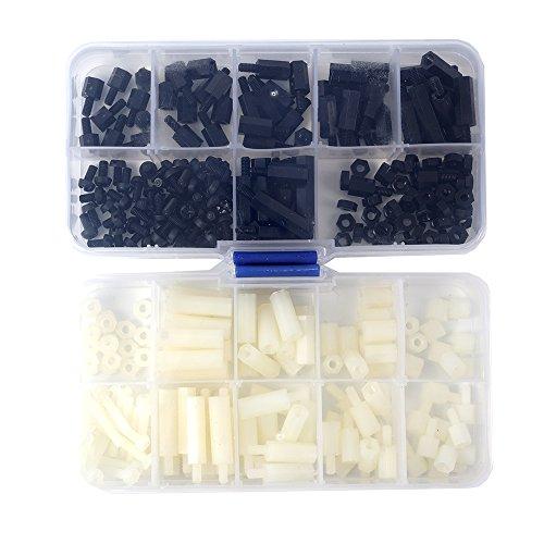 DIYI 300pcs M3 Nylon entretoises hexagonales vis écrou Stand-off Assortiment Kit Accessoires en plastique