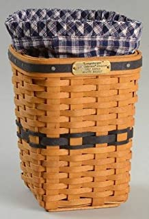 Longaberger Baskets J.W. Miniature Waste Basket W/Liner & Protector, Fine China Dinnerware