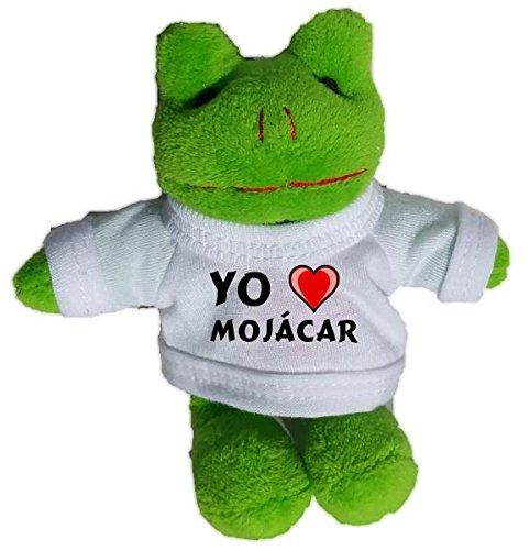 Rana de peluche (llavero) con Amo Mojácar en la camiseta (ciudad / asentamiento)