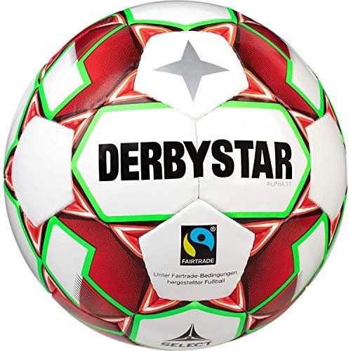 Derbystar Erwachsene Alpha TT, 1155500134 Fußball, Weiss rot Gruen, 5