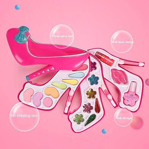Make-up-Set Für Mädchen,Waschbar Kinder Kosmetik Set, Sicher Und Ungiftig Lipgloss Rouge...