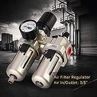 """XYUANG AC3010-03 Air Filter Regulator Compressed Air Pressure Regulator Moisture Trap Water Filter Moisture Oil-water Separator 3/8"""""""