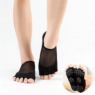 SGJFZD 3pairs/Pack Five Toe Socks Non-Slip Mesh Yoga Socks Female Floor Socks Ballet Socks Five Fingers Yoga Socks, Color Randomly Sent (Color : Random)
