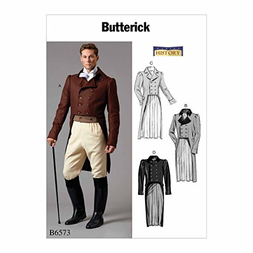 【Butterick】Men's Jacket 歴史的コスチューム 型紙セット サイズ:46-48-50-52 B6573