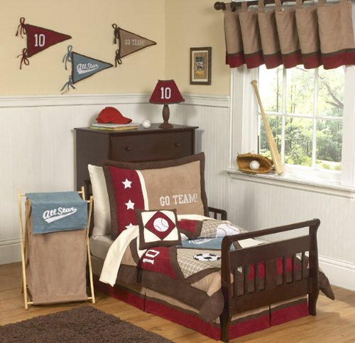 Sweet Jojo Designs 5-Piece All Star Sports Toddler Boy Bedding Set