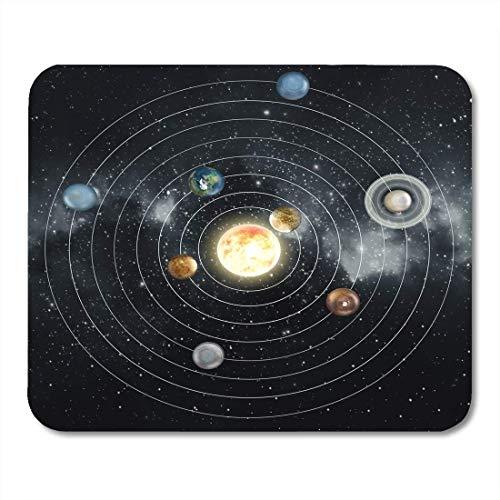Mauspads Saturn Planet Sonnensystem Diagramm dieses von der NASA gelieferten Moon Earth Mauspads für Notebooks, Desktop-Computer Mausmatten, Büromaterial