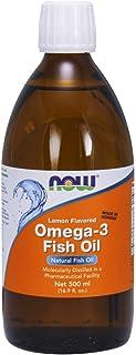 NOW Supplements, Omega-3 Fish Oil Liquid, Lemon, 16.9-Ounce