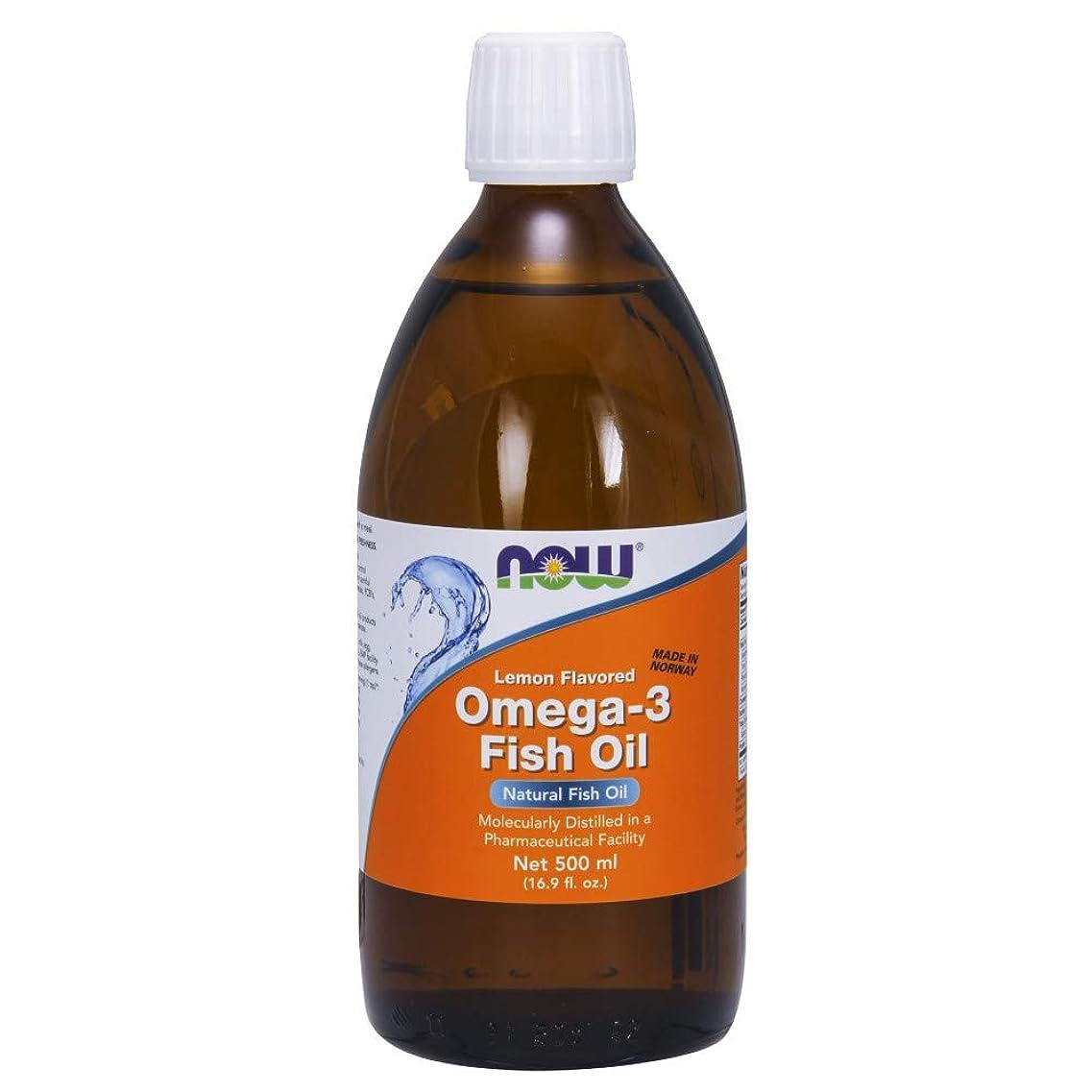 文明化ありそう準備した[海外直送品] ナウフーズ  Omega-3 Fish Oil Lemon Lemon 16.9 oz