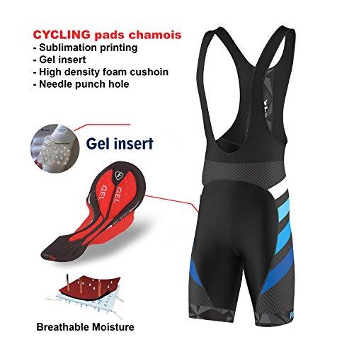 FDX - Bavaglino da ciclismo da uomo, edizione limitata, in gel camoscio imbottito, Uomo, Blu, S